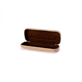 Akinių dėklas HAYNE Linen smėlio spalvos ruda
